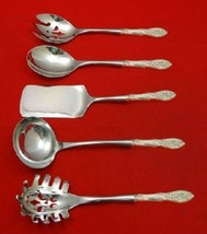 Valenciennes By Manchester Sterling Silver Hostess Serving Set HHWS 5pc Custom - $341.05