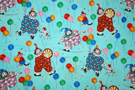 KITTY KLOWNS FROM MICHAEL MILLER - 100% COTTON FABRICS - $7.91