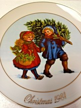 "Vintage 1981 Avon Christmas Memories Plate ""Sharing The Christmas Spirit"" W/Box - $18.69"