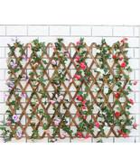 220cm Artificial Silk Rose Vine Wall Mounted Flowers Rattan Wedding Part... - $4.73