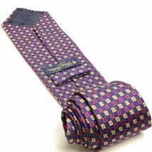 Navy Blue Red Yellow Silk Tie | Brooks Brothers Necktie - $59.39