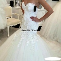 Bling Brides Lace Mermaid Wedding Dress with  Corset Back , Bridal Gown image 6