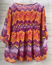 Justice Outfit Set - Boho Flowing Loose Poncho Top + Jean Skirt Skort Sz 10 image 12