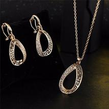 Women Designer Fashion Crystal Jewelry Set image 3