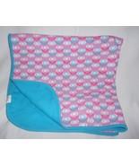 Zutano Baby Blanket Cotton Pink Blue Flower Floral Aqua Girl Infant - $19.68