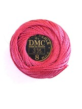 DMC Pearl Cotton #8 Rose #335 87 M 10 Grams Coton Perle - $2.30
