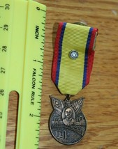 Military award ribbon pin lapel yellow red blue vintage man sun Russian ?? Army - $29.70