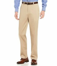 Men's Roundtree & Yorke Trim Fit Chinos Khaki Easy Care Dress Pants - 30x30 image 1