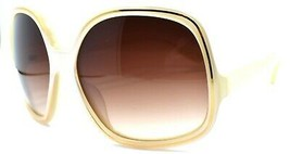 Oliver Peoples Talya IS Women's Sunglasses Ivory & Gold / Brown Gradient JAPAN - $76.13