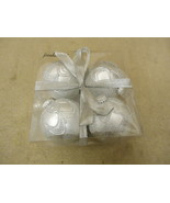 Designer Hanging Balls Decorative 3in Diameter Silver Box of 4 Glass - $12.10