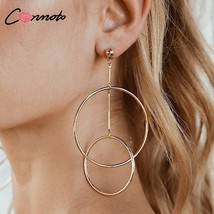 Conmoto Simple High Street Fashion Earring Hoops Silver Solid Jewelry Pa... - $13.98