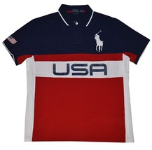 NEW Polo Ralph Lauren Men's Custom Fit Country Jersey Polo Shirt USA L - $78.99