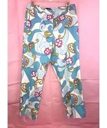 Randi M Petites Light Blue Multicolored Floral Capri Pants Size 10P - $16.83