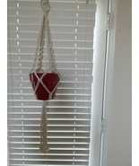 Macrame Plant Hanger, Retro Hanging Plant Holder, Indoor and Outdoor Air... - $15.99