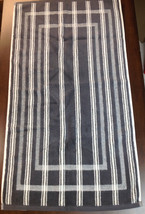 Concierge Collection 100% Turkish Cotton Bath Mat, Gray Stripe - $10.88