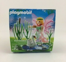 Playmobil 4936 Fairy with Swan Pond Pink Egg New in Box 21 Pieces Ages 3... - $29.35