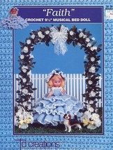 "Faith 9.5"" Musical Bed Doll Outfit Td Creations Crochet Pattern Leaflet HTF - $4.92"