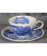 "Nasco Handpainted ""Homestead"" Blue Cup and Saucer - $9.95"