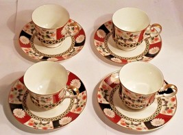 4 Sets of Mikasa Footed Teacup & Saucers Fine China Shogun A6851 - $41.68