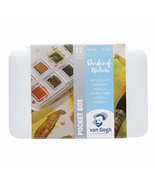 Van Gogh Watercolor Paint Set, Plastic Pocketbox, 12-Half Pan Shades of ... - $24.58