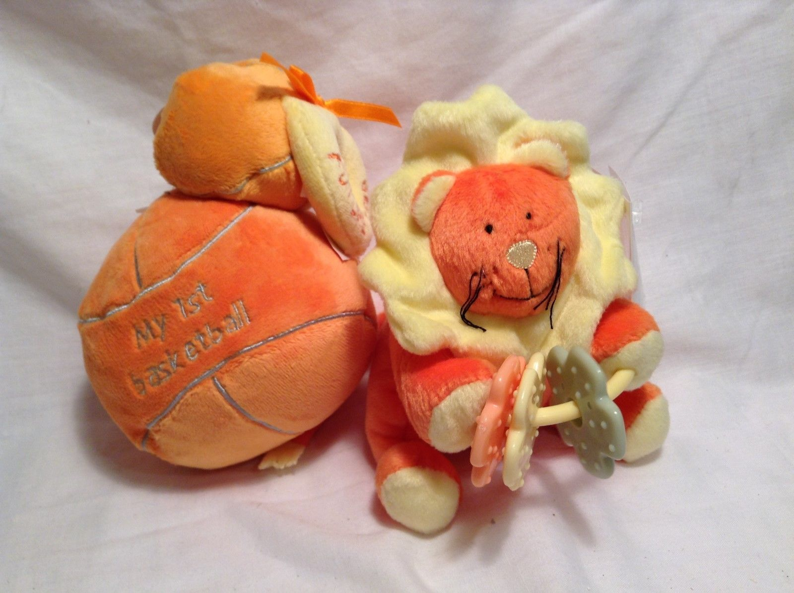 NEW Stephan Baby Rattle Ball and Lion Toy Set