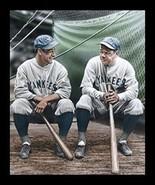 FRAMED Lou Gehrig and Babe Ruth by Darryl Vlasak 17x12 Sport Art Print Y... - $39.27