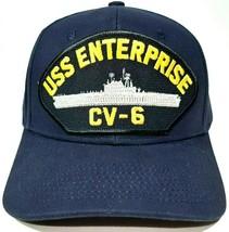 U.S. Navy USS Enterprise CV-6 Men's Cap Hat  Navy Blue Strapback - $12.86