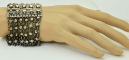 RARE Antique Victorian silvered MEMENTO MORI skulls ladies bracelet c1870s - $500.00