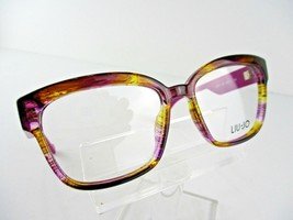NEW  LIU JO JL 2672 (504) Striped Purple 53 x 15 135 mm Eyeglass Frame - $42.04
