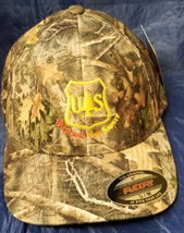 USFS United States Forest Service Wildland Fire Safety Logo CAMO FlexFit... - $37.49