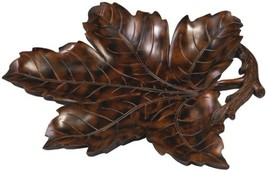 MOUNTAIN Tray Traditional Antique Maple Leaf Large - $189.00