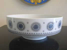 "ROSENTHAL TAPIO WIRKKALA ICE BLOSSOM 1960S ROUND SERVING BOWL 8.5"" WIDE - $49.00"