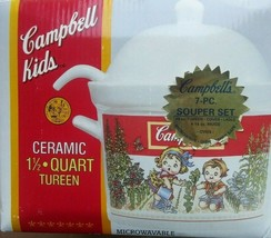 NEW IN THE BOX CAMPBELL KIDS SOUP TUREEN LADLE IS MISSING 1 1/2 QUART - $89.09
