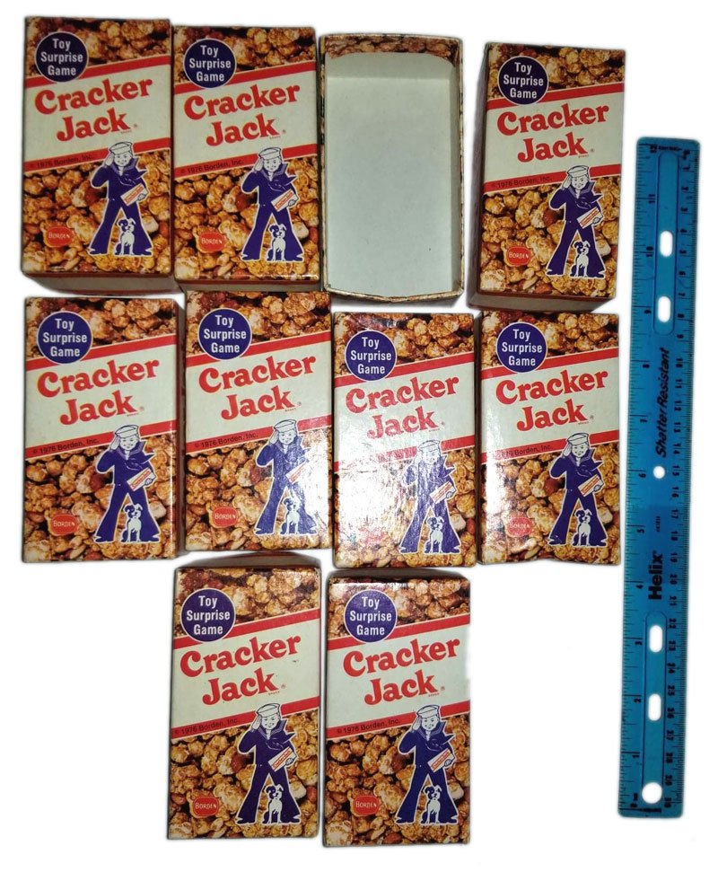 Cracker Jack Vintage 1976 Board Game - (10) Replacement Boxes *Milton Bradley