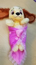 """Disney Babies Lady from Lady And The Tramp Plush With Blanket 12"""" Disney... - $13.60"""