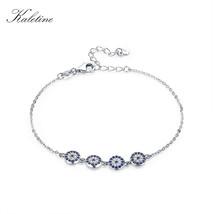 Kaletine Sterling Silver Bracelet Fashion Turkey Evil Eye Cubic Zirconia... - $33.98