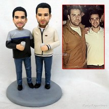 OOAK handmade 100% polymer clay figurines statue dolls from your picture... - $148.00