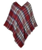 CLASSIC PLAID CHECK PATTERN PONCHO - $15.99