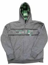 Hurley Boys Sherpa Fleece Lined Full Zip Jacket Medium Grey Heather - $29.99