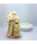 egbhouse, Natural Beeswax Soywax candle Santa w/gift bags Candle and holder - $29.69