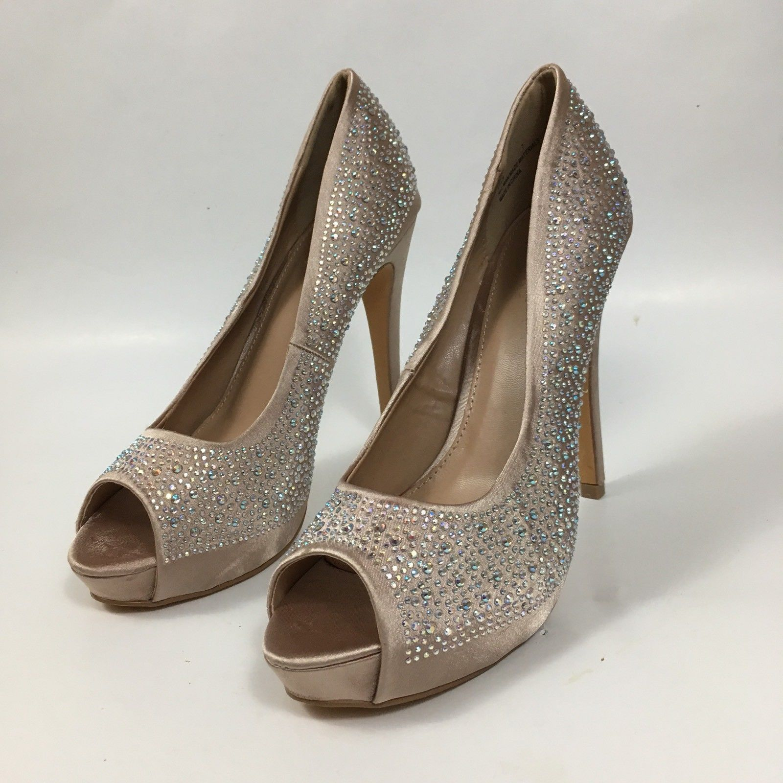 c4769d9d5311 S l1600. S l1600. Previous. Charlotte Russe Women s Sz 7 Ella High Heel  Shoes Embellished Open Peep Toe