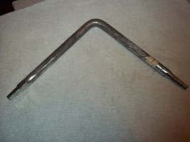 """90° """"L"""" Shape Faucet Seat Wrench Square Shaped End & Hex Shaped End 6""""L Ea Side - $5.34"""