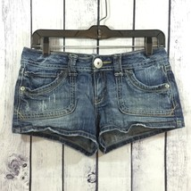 Aeropostale Womens Denim Jeans Booty Shorty Shorts Juniors 5/6 5 6  - $15.99
