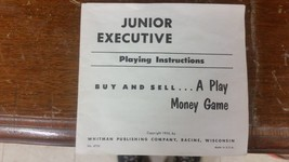 Vintage JUNIOR EXECUTIVE 1955 Board Game Whitman Pub Co parts  morebx27 - $7.84