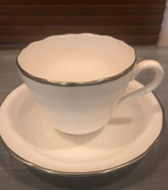 Spode Cup and Saucer Trimmed w Gold Excellent Cond Bone China Porcelain - $18.71