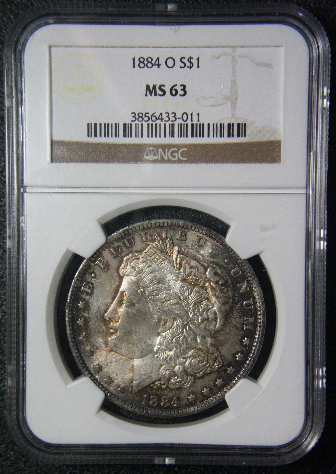 1884O Morgan Silver Dollar $1 NGC MS63 Coin Lot # SR 1051