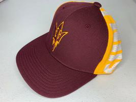 New SMALL/MEDIUM Men Adidas Arizona State Sun Devils Fitted Baseball Cap Hat - $9.89