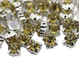 6mm SS30 Citrine Lt. Sew on Crystal Diamante Rhinestone Rose Montee Bead... - $11.87