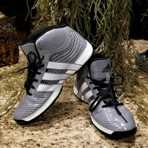 Mens ADIDAS Commander TD 4 Grey & White Patent Basketball Athletic Shoes... - $49.95