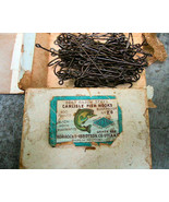 Carlisle Fishing Hooks Original Box Nice Label and Eagle Claw Good Luck ... - $12.99